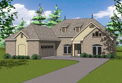 4 Bed, 3 Bath, 2490 Square Foot House Plan - #6471-00055