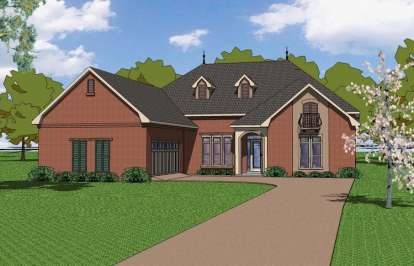 4 Bed, 3 Bath, 2490 Square Foot House Plan - #6471-00056