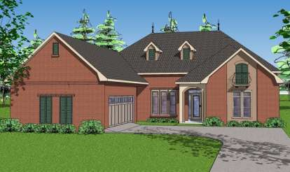 3 Bed, 3 Bath, 2366 Square Foot House Plan - #6471-00061