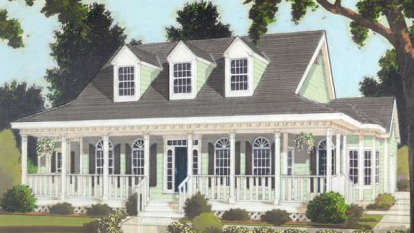 3 Bed, 2 Bath, 1649 Square Foot House Plan #033-00005