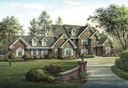 4 Bed, 5 Bath, 5321 Square Foot House Plan - #5633-00157