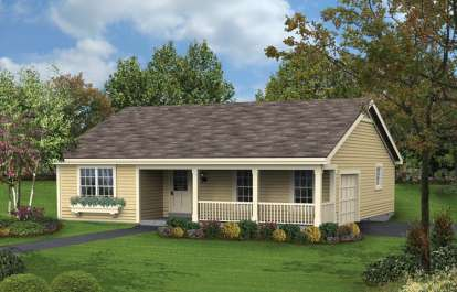 3 Bed, 2 Bath, 1196 Square Foot House Plan - #5633-00162
