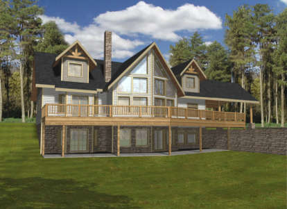 5 Bed, 3 Bath, 4241 Square Foot House Plan - #039-00198
