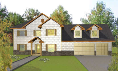 5 Bed, 3 Bath, 4552 Square Foot House Plan - #039-00199