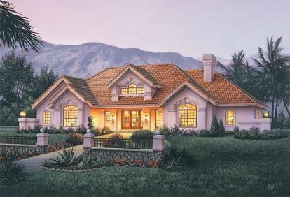 4 Bed, 3 Bath, 2539 Square Foot House Plan #5633-00163