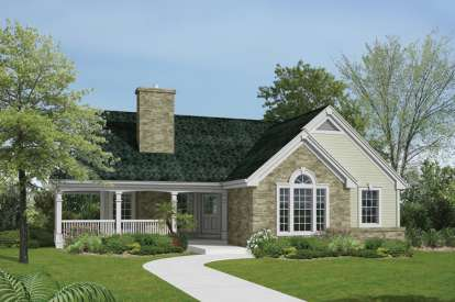 2 Bed, 1 Bath, 1114 Square Foot House Plan - #5633-00174