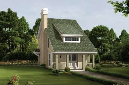 2 Bed, 1 Bath, 1131 Square Foot House Plan - #5633-00184