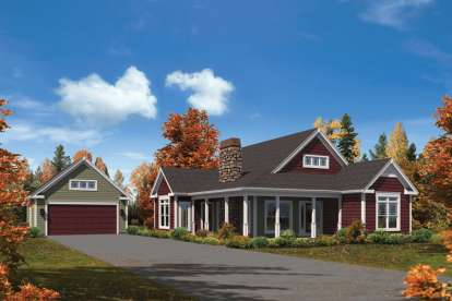 3 Bed, 2 Bath, 1582 Square Foot House Plan #5633-00213