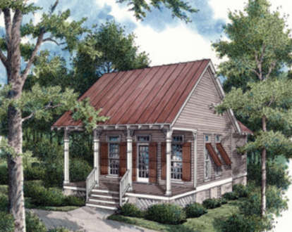 1 Bed, 1 Bath, 569 Square Foot House Plan #048-00001