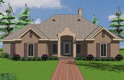 3 Bed, 2 Bath, 1938 Square Foot House Plan - #6471-00078