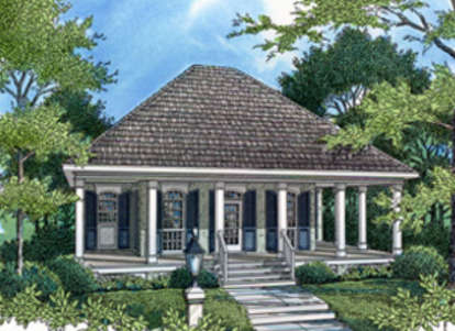 1 Bed, 1 Bath, 848 Square Foot House Plan #048-00003