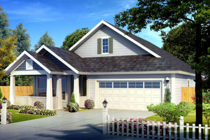 3 Bed, 2 Bath, 1786 Square Foot House Plan - #4848-00318