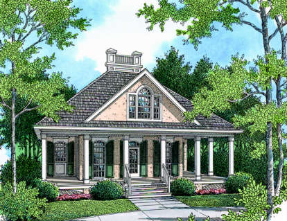 1 Bed, 1 Bath, 848 Square Foot House Plan #048-00004