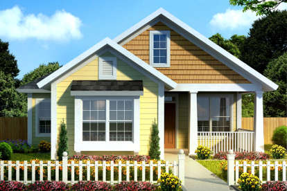 3 Bed, 2 Bath, 1420 Square Foot House Plan - #4848-00323