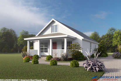 3 Bed, 2 Bath, 1277 Square Foot House Plan #4848-00325