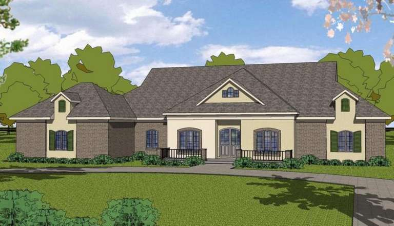 French Country House Plan #6471-00082 Elevation Photo