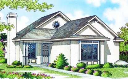 2 Bed, 1 Bath, 984 Square Foot House Plan - #048-00006