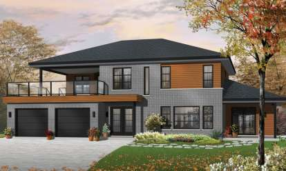 3 Bed, 2 Bath, 2729 Square Foot House Plan - #034-01053