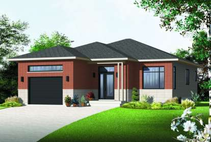 2 Bed, 1 Bath, 1225 Square Foot House Plan - #034-01059