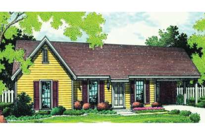 3 Bed, 1 Bath, 998 Square Foot House Plan - #048-00007