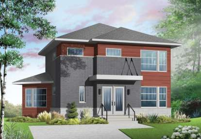 3 Bed, 2 Bath, 1688 Square Foot House Plan - #034-01063