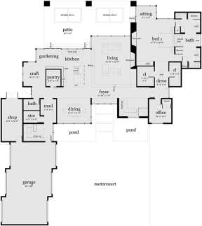 Main Floor for House Plan #028-00067