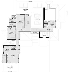Second Floor for House Plan #028-00067