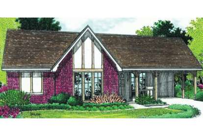3 Bed, 1 Bath, 998 Square Foot House Plan - #048-00008