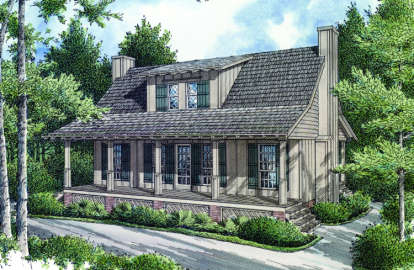 2 Bed, 2 Bath, 1034 Square Foot House Plan - #048-00010