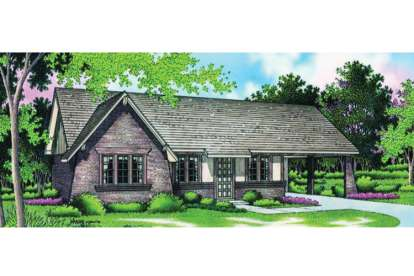 3 Bed, 1 Bath, 998 Square Foot House Plan - #048-00011