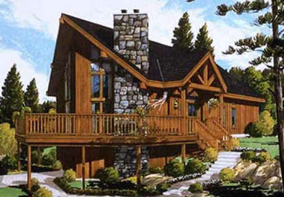 3 Bed, 2 Bath, 1500 Square Foot House Plan #033-00006