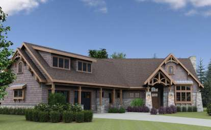 4 Bed, 4 Bath, 3211 Square Foot House Plan #7806-00002