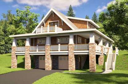 4 Bed, 3 Bath, 2048 Square Foot House Plan #7806-00007