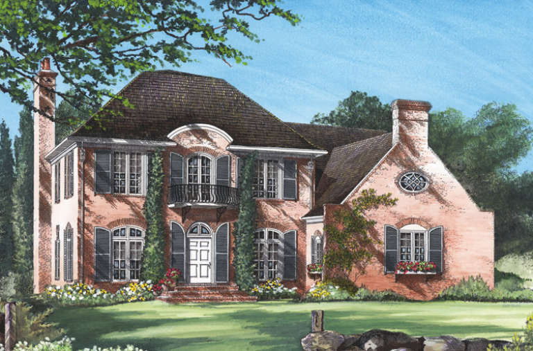 French Country House Plan #7922-00004 Elevation Photo