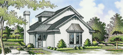 2 Bed, 2 Bath, 1081 Square Foot House Plan - #048-00015