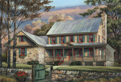 5 Bed, 4 Bath, 3039 Square Foot House Plan #7922-00034