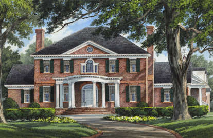 5 Bed, 5 Bath, 4685 Square Foot House Plan - #7922-00039