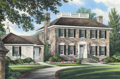4 Bed, 3 Bath, 3470 Square Foot House Plan #7922-00049