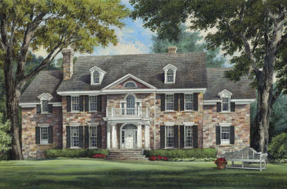 4 Bed, 5 Bath, 5380 Square Foot House Plan #7922-00054