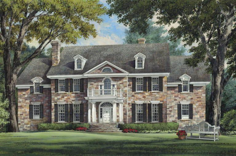 Georgian House Plan #7922-00054 Elevation Photo