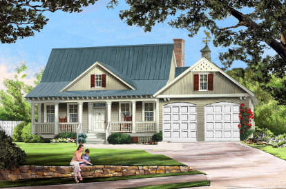 3 Bed, 2 Bath, 1738 Square Foot House Plan #7922-00072