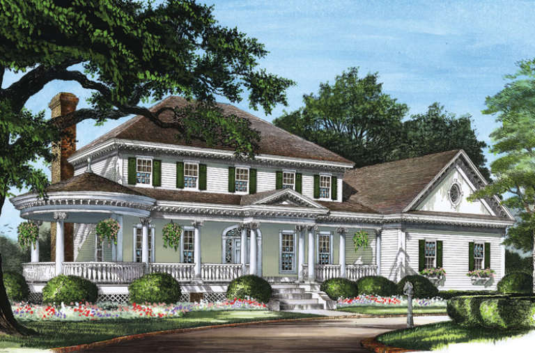 Classical House Plan #7922-00083 Elevation Photo