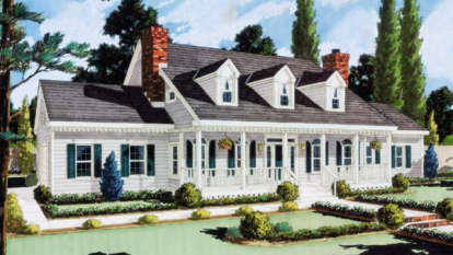 5 Bed, 3 Bath, 2705 Square Foot House Plan - #033-00007