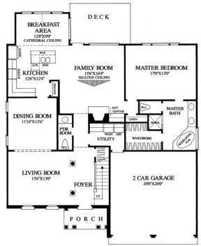 Floorplan 1 for House Plan #7922-00106