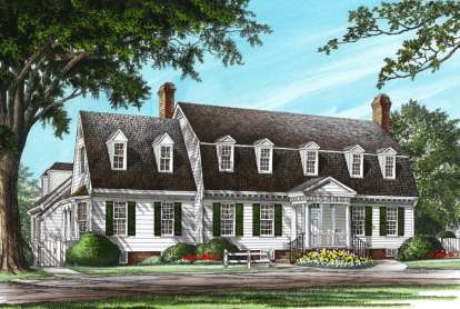 4 Bed, 3 Bath, 3423 Square Foot House Plan - #7922-00137