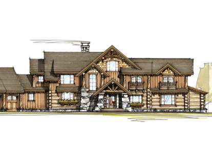 4 Bed, 3 Bath, 5770 Square Foot House Plan - #8504-00018