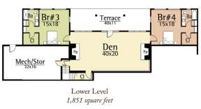 Lower Level for House Plan #8504-00019