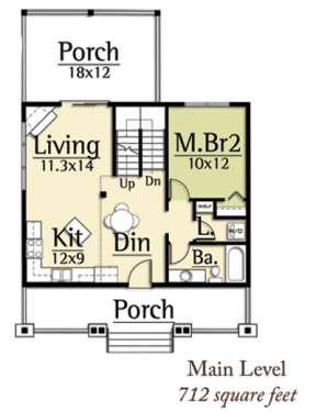 Floorplan 1 for House Plan #8504-00022