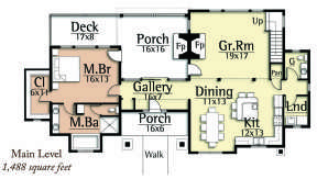 Floorplan 1 for House Plan #8504-00031