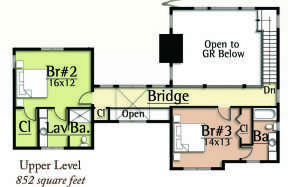 Floorplan 2 for House Plan #8504-00031